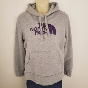 Gray and Purple North Face Hoodie